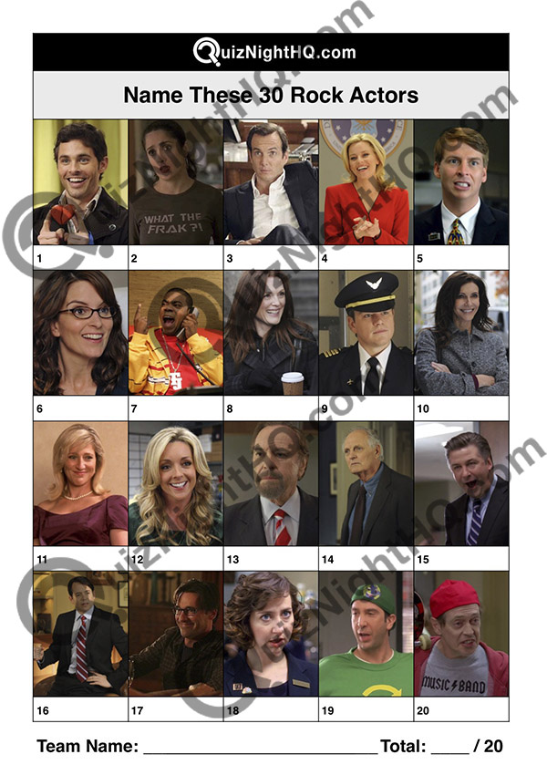 30 rock tv show actors picture trivia round