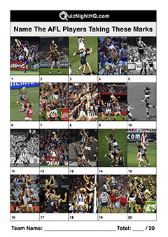 afl marks famous players trivia picture round