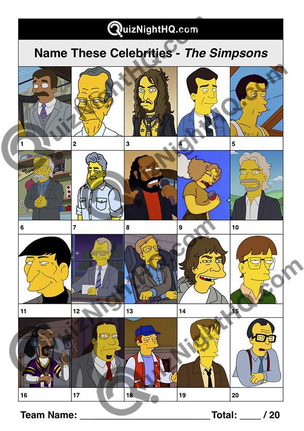 trivia picture round cartoon famous faces