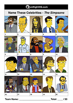 trivia picture round cartoon famous faces