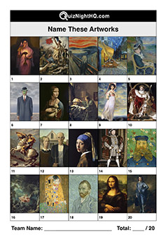 famous artwork portrait name the art piece trivia question picture