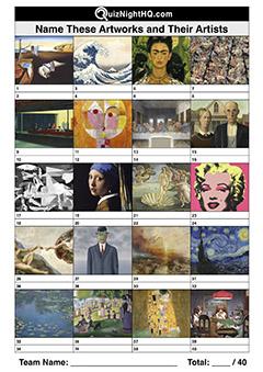 massive quiz art artist knowledge trivia