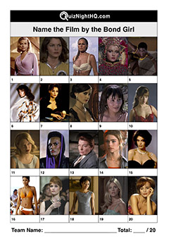 james bond girls movie quiz