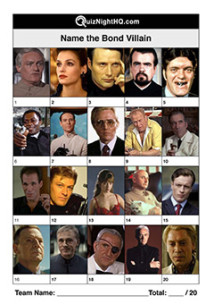james bond movie villains trivia quiz