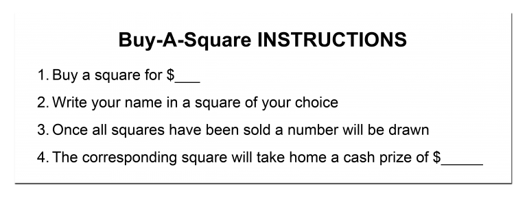 Buy-A-Square Template Instructions