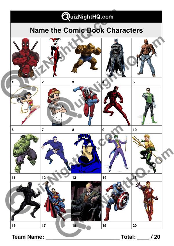 comic book trivia quiz picture round