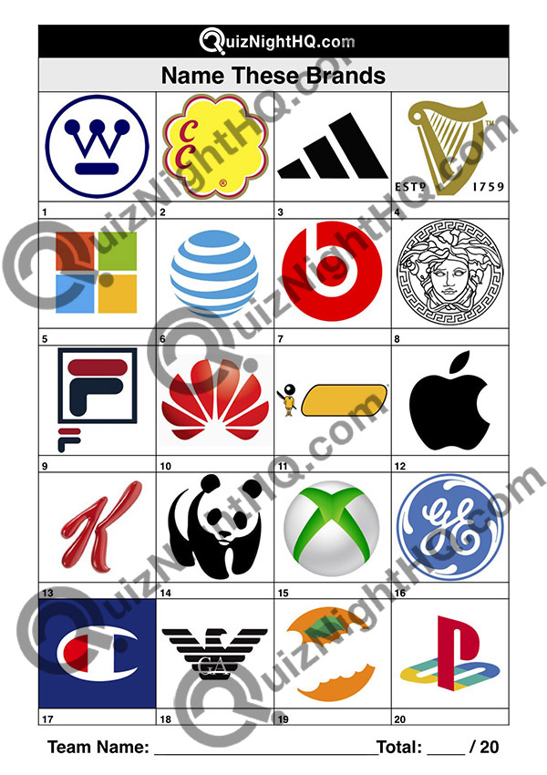 brand logos trivia picture round