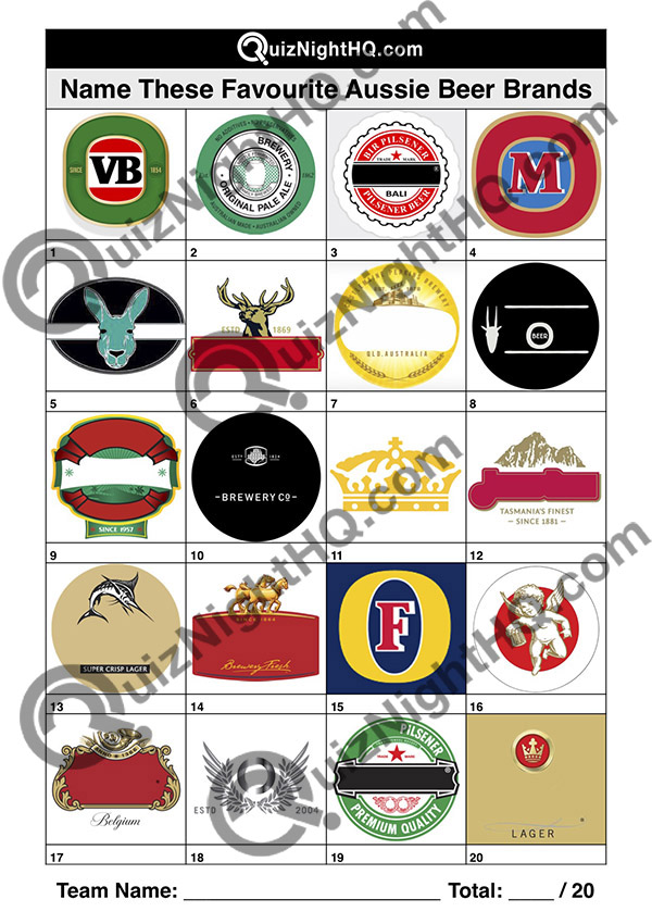 company logos beer australian trivia picture round