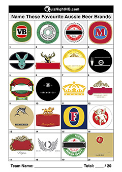 company logos beer australian trivia picture round