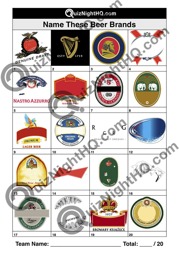 beer brand logos trivia picture round