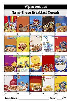 breakfast cereal logos picture trivia round