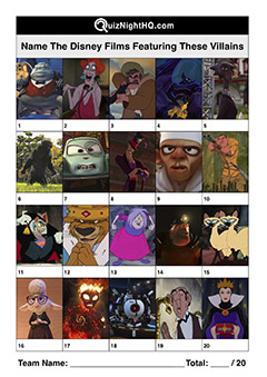 disney pixar villain character picture trivia quiz