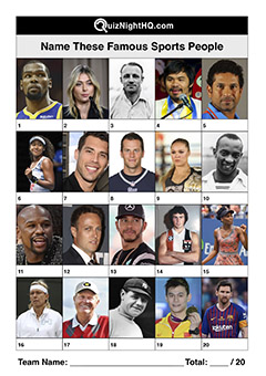 famous sport people faces trivia picture round