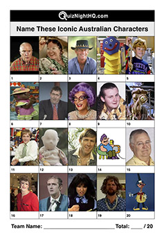 famous australian faces aussie characters