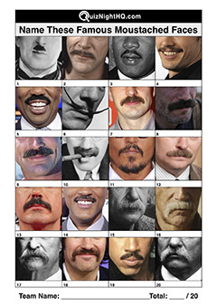 famous faces moustaches trivia picture round
