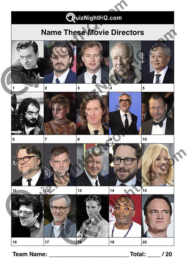 famous faces movie film directors trivia picture round