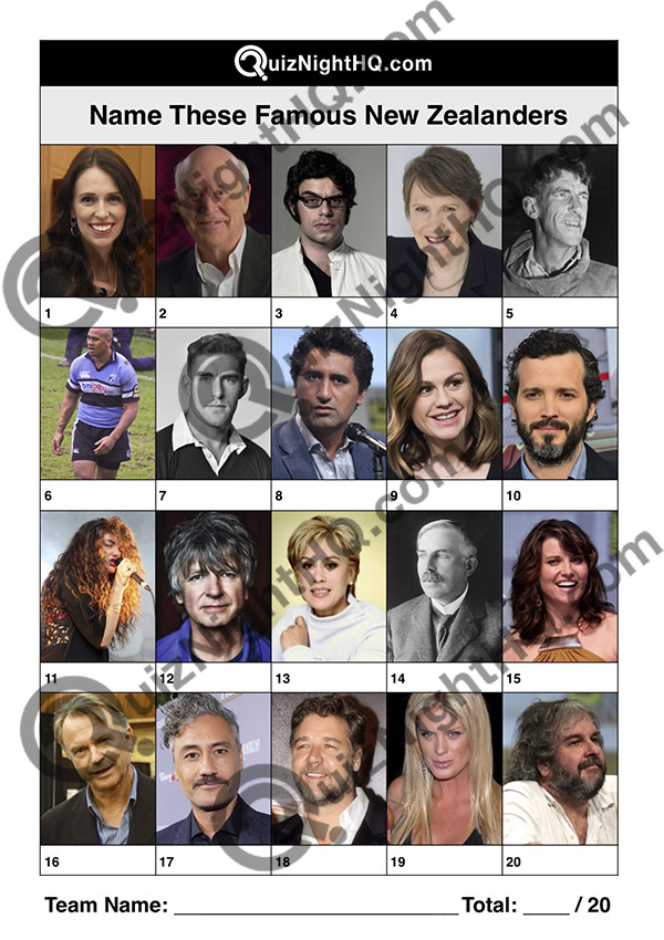 new zealand famous faces trivia picture round