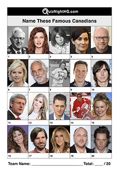 famous faces canada picture quiz round