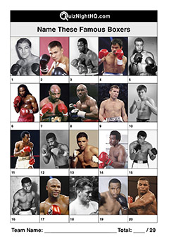 famous sport faces boxers trivia picture round
