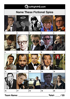 fictional spies famous faces picture trivia round