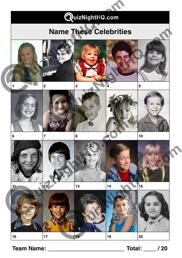 celebrity kids famous faces picture trivia quiz