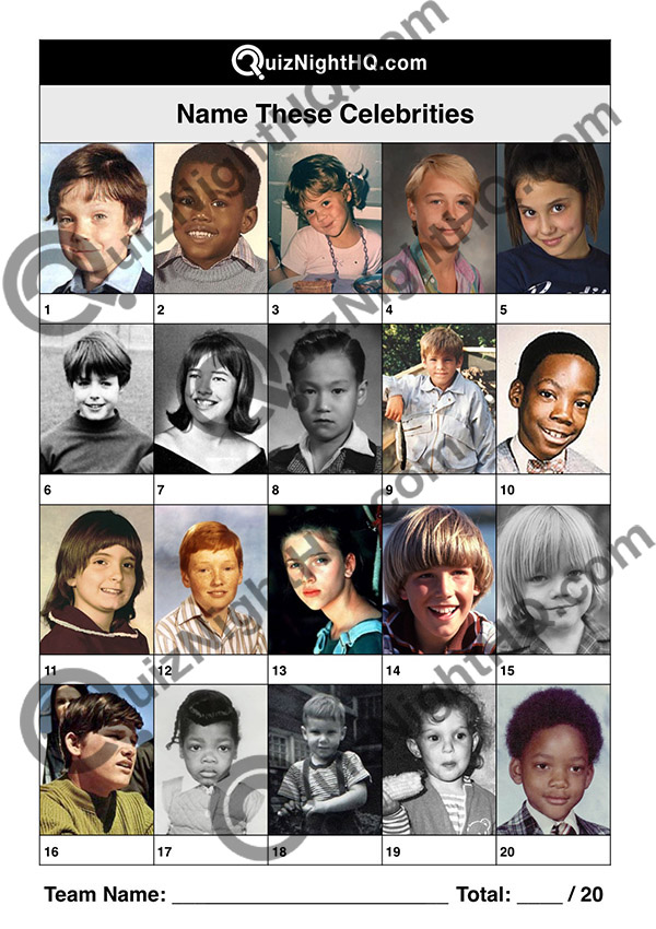 famous celebrity kids picture trivia round