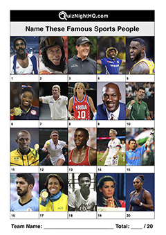 famous faces sports people trivia picture round