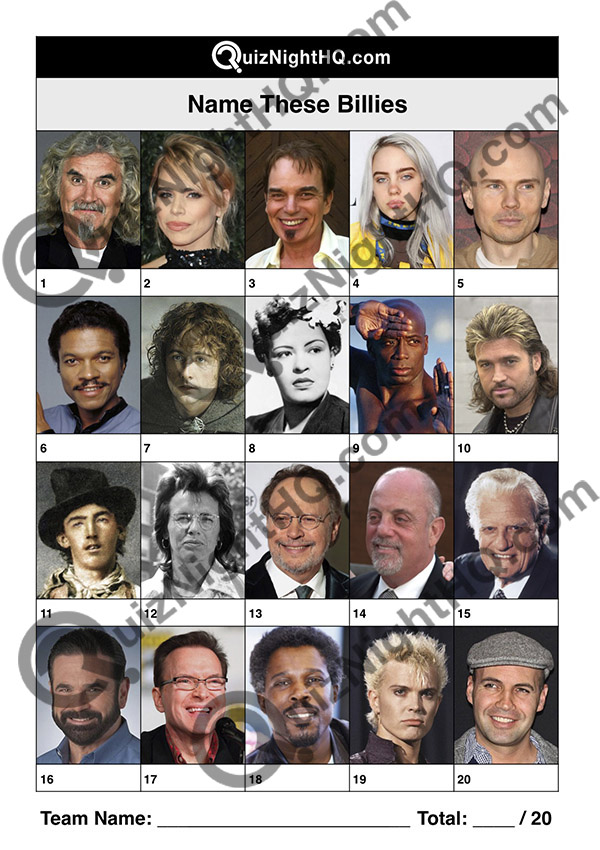 famous faces trivia round billies