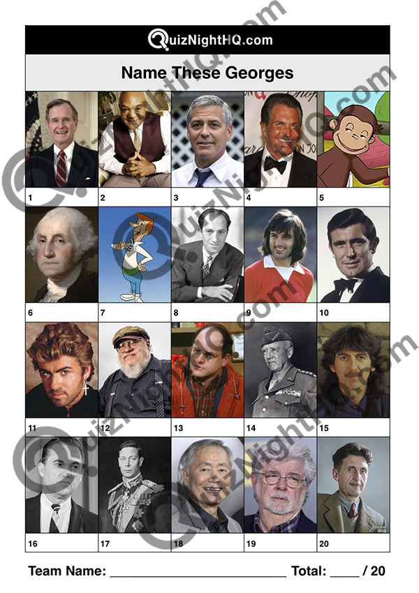 famous faces george celebrity trivia quiz