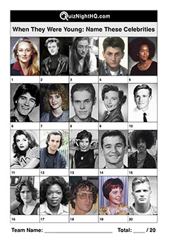celebrity young photos famous faces trivia picture question