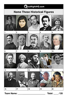 historical famous faces figures infamous celebrity name trivia picture quiz