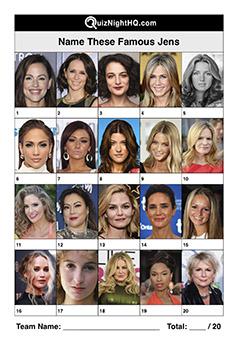 famous faces celebrities named jen picture trivia quiz