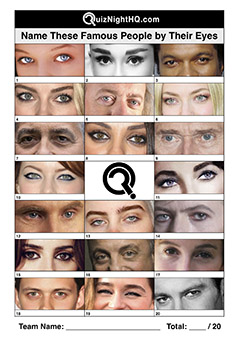 famous faces celebrity eyes trivia picture round