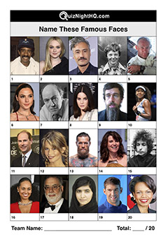 classic famous faces picture trivia round
