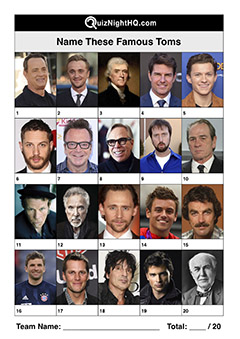 famous faces people named tom trivia picture quiz question round