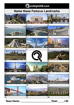 famous landmarks quiz picture round