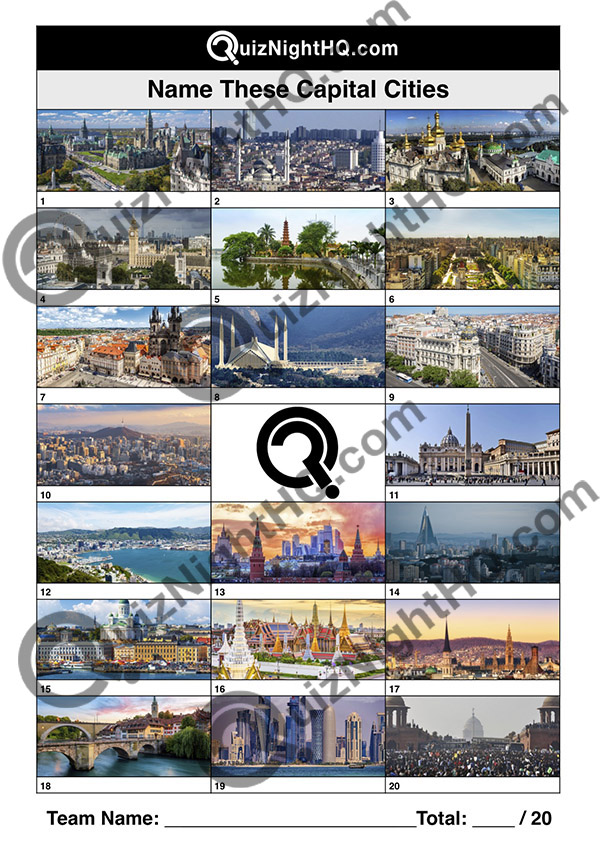 famous landmarks capital city trivia picture round