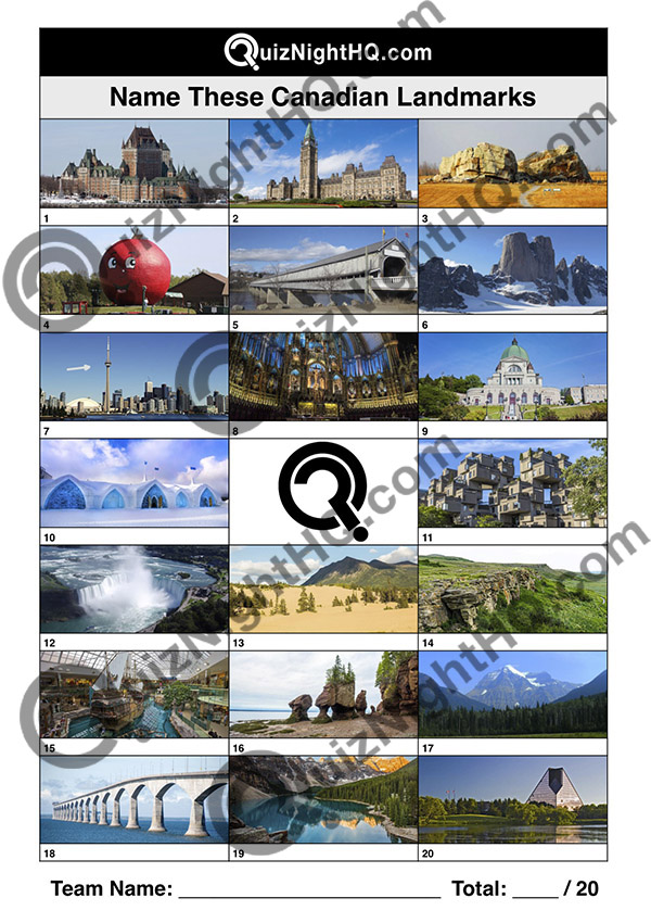 famous canada landmarks trivia picture round