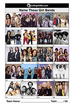 girl band music groups famous musicians picture trivia round