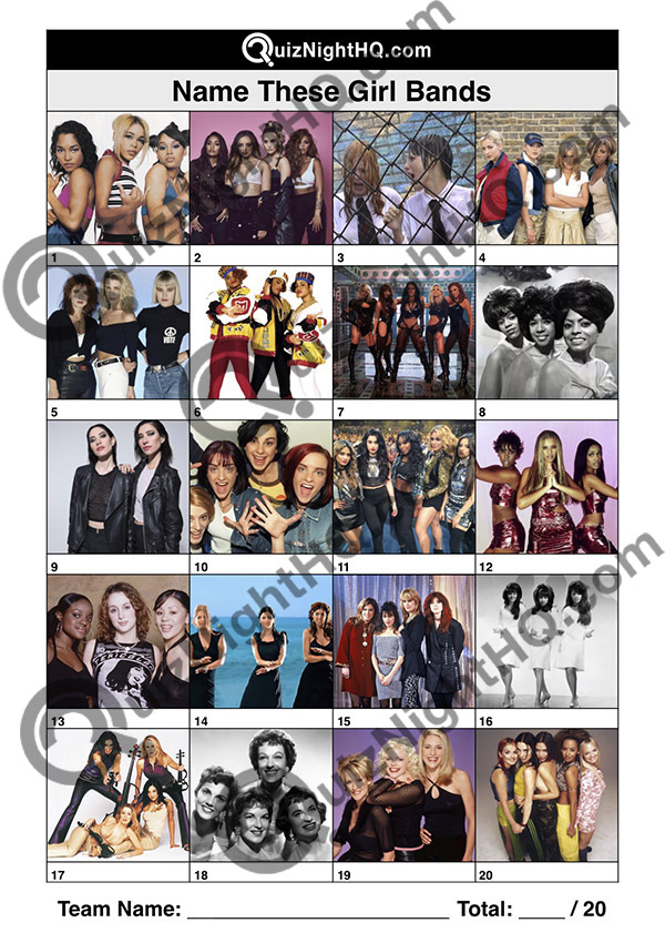 music trivia round famous girl bands quiz