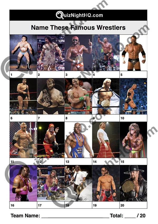 famous wrestlers trivia picture round