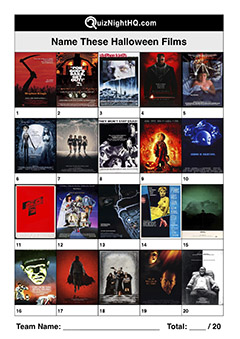 halloween movie posters scary films