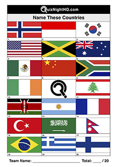 flags countries world picture trivia quiz