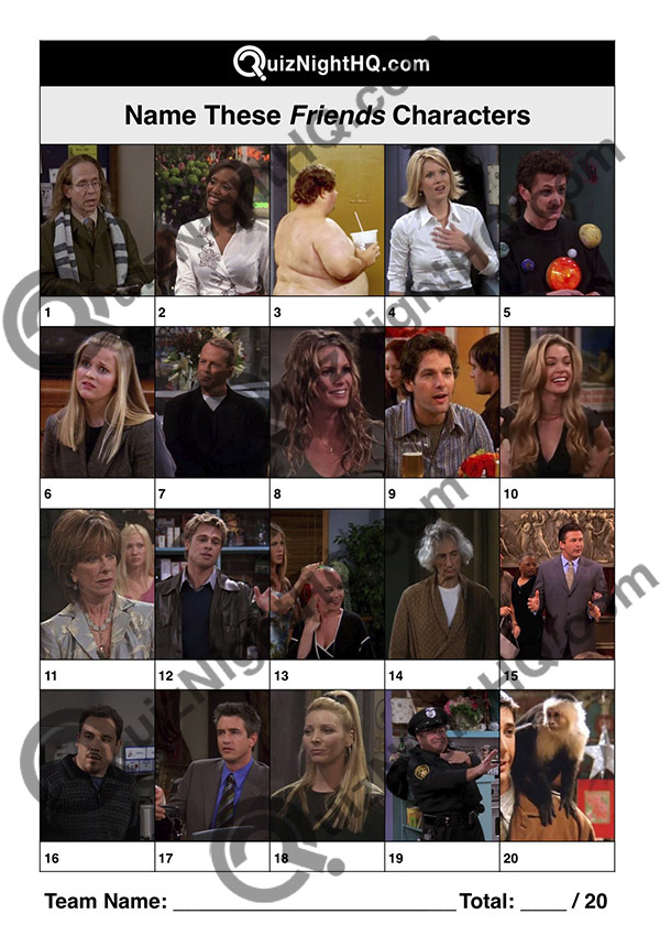 friends characters trivia question round expert