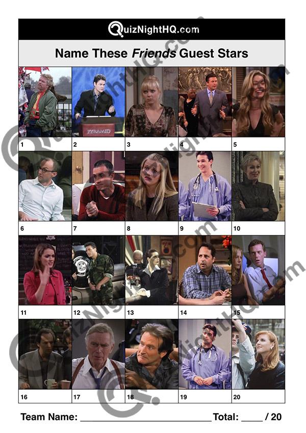 celebrity guest stars picture trivia round