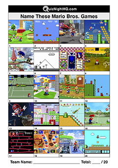 mario bros game screenshots picture trivia round