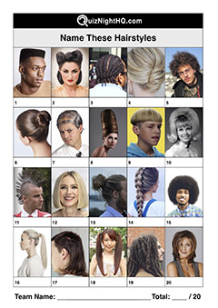 hairstyles fashion trivia picture round