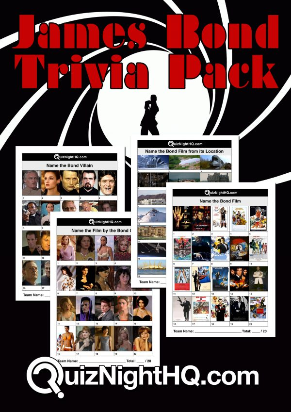 james bond trivia quiz package