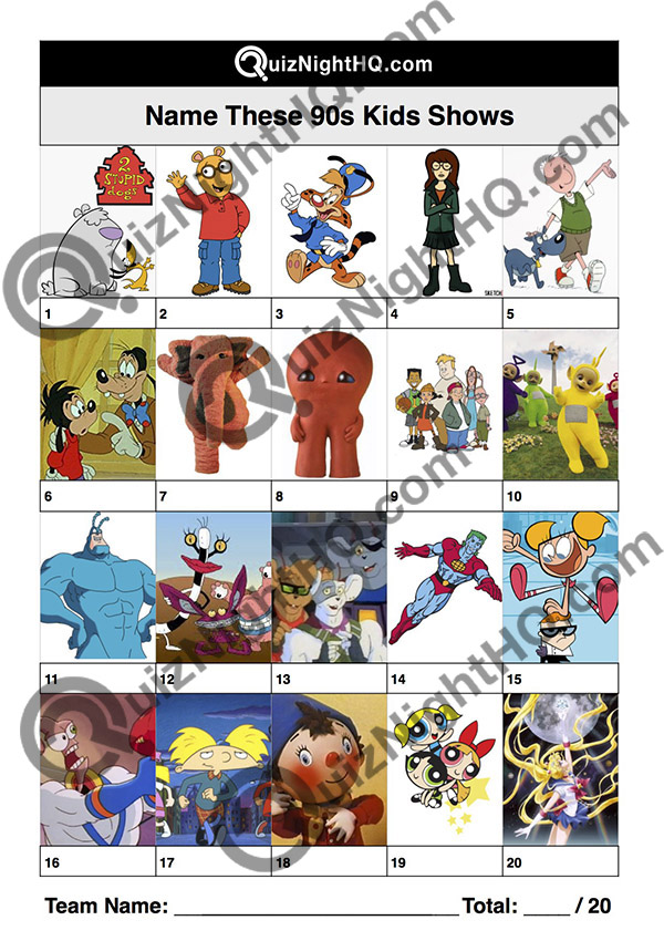 children tv shows characters trivia picture round