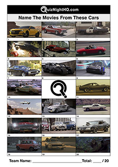 trivia picture round film cars vehicles